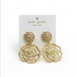 Kate Spade gold rose earrings